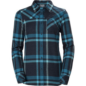 Helly Hansen Classic Check Langarm Shirt Damen north sea blue plaid north sea blue plaid