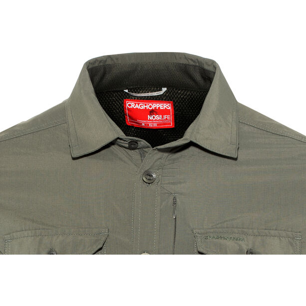 Craghoppers NosiLife Adventure II Longsleeved Shirt Herren dark khaki