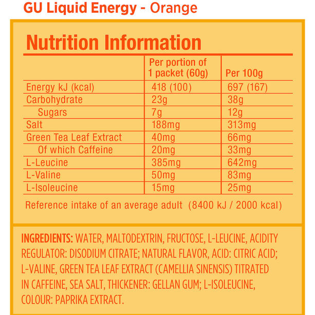 GU Energy Liquid Mix Paket 24x60g Mixed