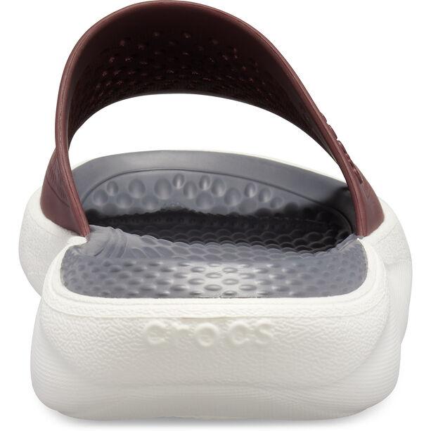 Crocs LiteRide Slides burgundy/white