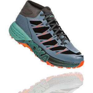 Hoka One One Speedgoat WP Mid-Cut Laufschuhe Herren stormy weather/beryl green stormy weather/beryl green