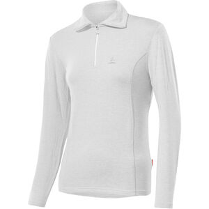 Löffler Basic Transtex Zip-Sweater mit Umlegekragen Damen white white