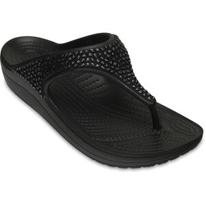 Crocs Sloane Embellished Flips Damen black/black black/black