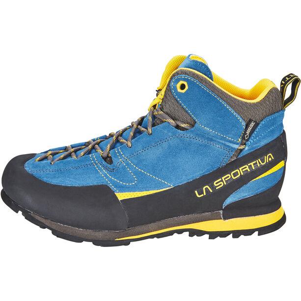 La Sportiva Boulder X Mid Schuhe Herren blue/yellow