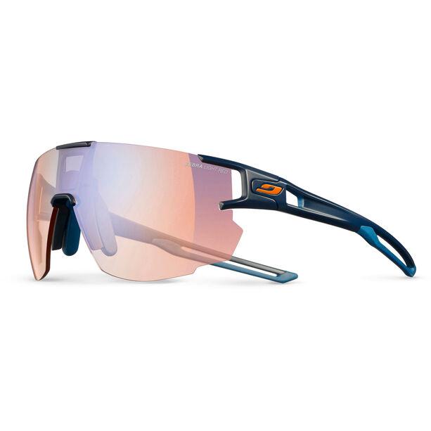 Julbo Aerospeed Zebra Light Red Sunglasses dark blue/dark blue/orange-multilayer blue