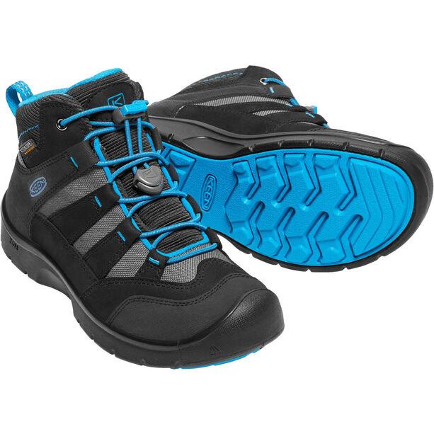 Keen Hikeport Mid WP Shoes Kinder black/blue jewel