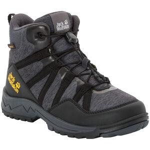 Jack Wolfskin Thunderbolt Texapore Mid-Cut Schuhe Kinder black/dark grey black/dark grey