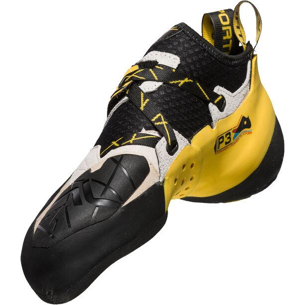 La Sportiva Solution Climbing Shoes Herren white/yellow