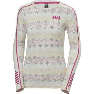 Helly Hansen Lifa Active Graphic Crew Shirt Damen white dotted print white dotted print