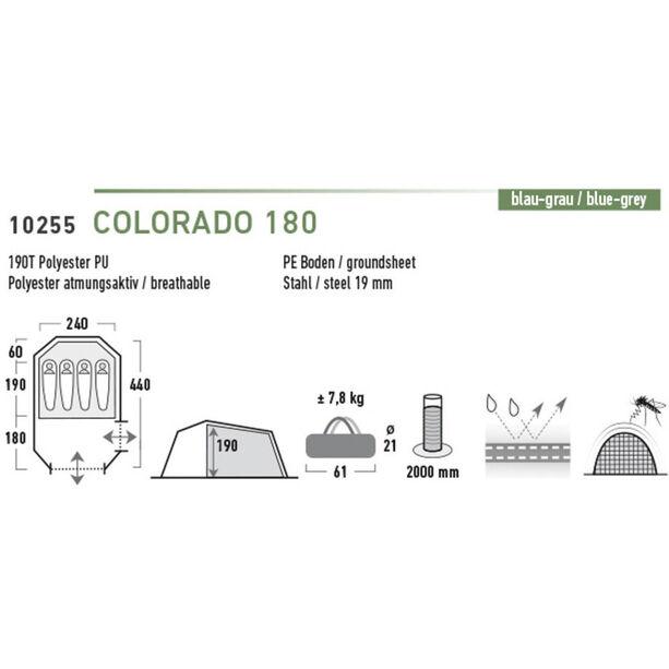 High Peak Colorado 180 Zelt blau/dunkelgrau