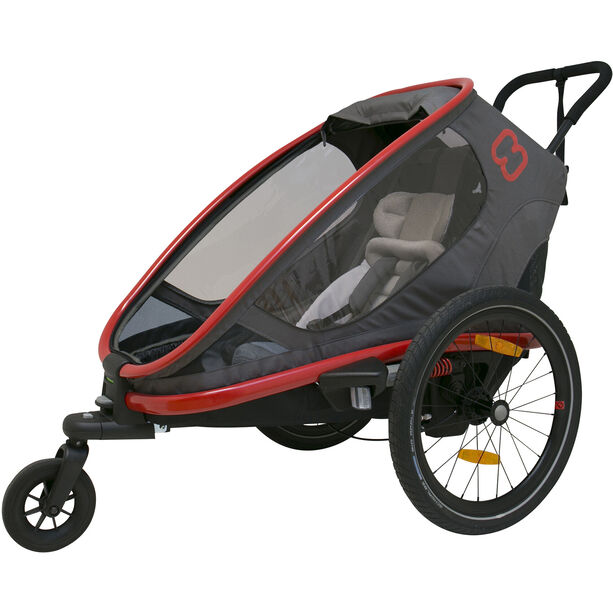 Hamax Outback One Bike Trailer red/charcoal