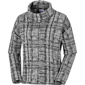 Columbia Chillin Fleece Pullover Damen black plaid print black plaid print