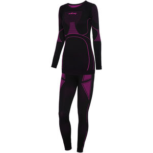 Viking Europe Etna Unterwäsche Set Damen black fuchsia black fuchsia