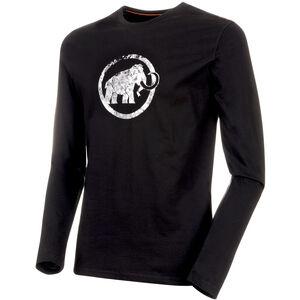 Mammut Logo Langarm Shirt Herren black black