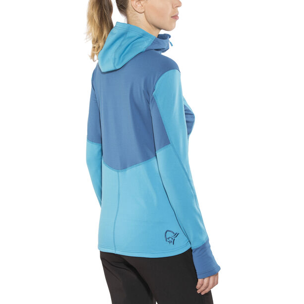 Norrøna Falketind Warm1 Stretch Zip Hoodie Damen blue moon
