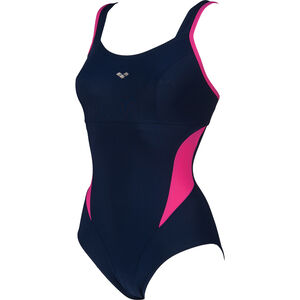 arena Makimurax Low C Cup One Piece Swimsuit Damen navy/rose violet navy/rose violet