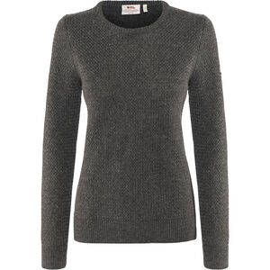 Fjällräven Övik Structure Sweater Damen dark grey dark grey