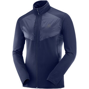 Salomon Grid Full-Zip Midlayer Herren night sky night sky