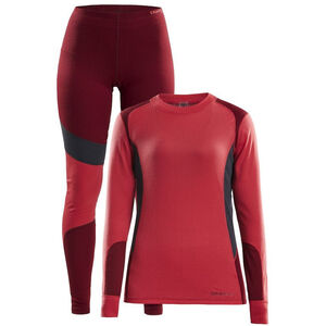 Craft Baselayer Set Damen beam/rhubarb beam/rhubarb