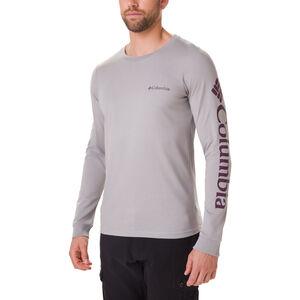 Columbia Columbia Lodge Langarm Graphic T-Shirt Herren columbia grey/sleeve hit columbia grey/sleeve hit