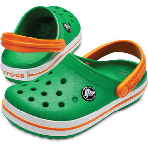 Crocs Crocband Clogs Kinder grass green/white/blazing orange grass green/white/blazing orange