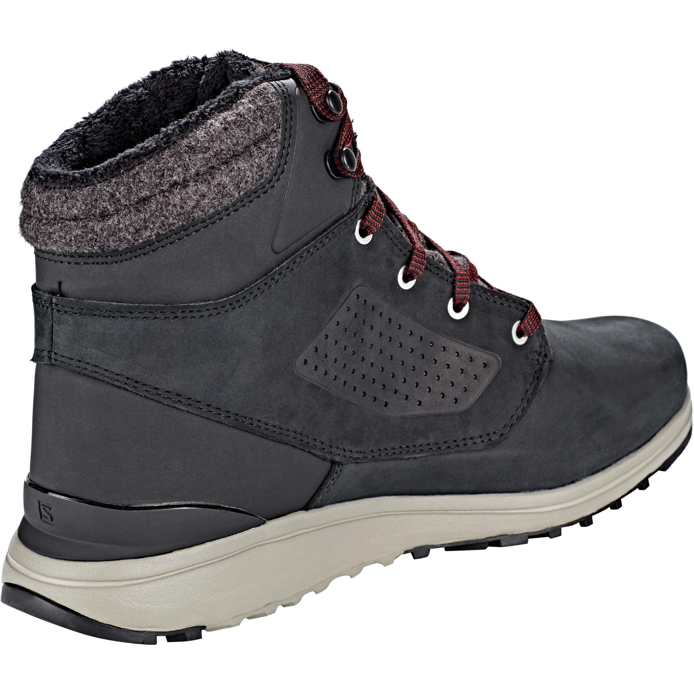Salomon Utility CS WP Shoes Herren blackblackred dahlia