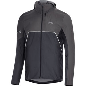 GORE WEAR R7 Partial Gore-Tex Infinium Hooded Jacket Herren black/terra grey black/terra grey