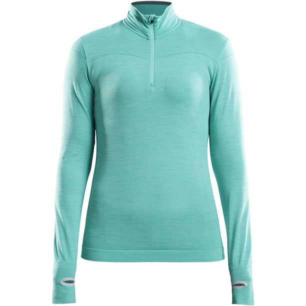 Craft Fuseknit Comfort Zip Shirt Damen paradise melange
