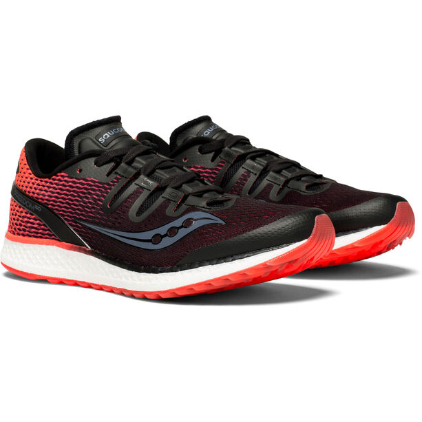 saucony Freedom ISO Shoes Damen black/vizipro red