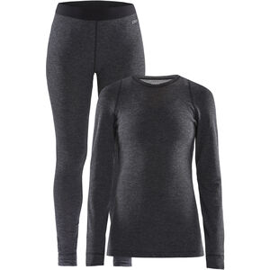 Craft Merino 180 Baselayer Set Damen black melange black melange