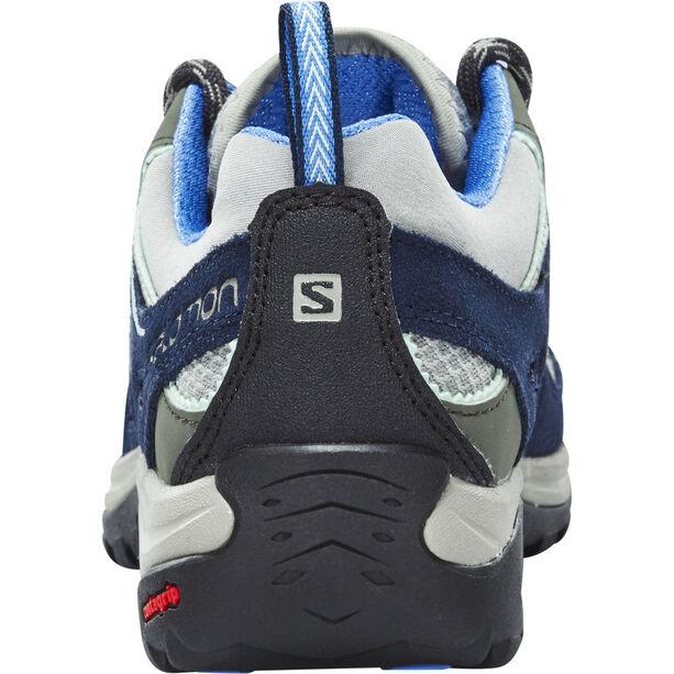 Salomon Ellipse 2 Aero Hiking Shoes Damen titanium/deep blue/petunia blue