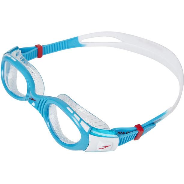 speedo Futura Biofuse Flexiseal Goggles Kinder white/turquoise/clear