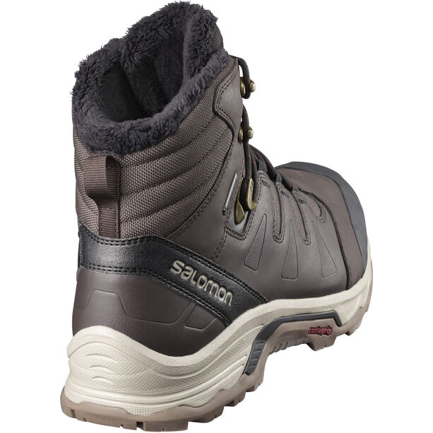 Salomon Quest GTX Winter Shoes Herren Black Coffee/Black/Red Dalhia