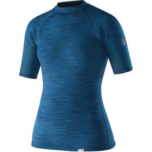NRS HydroSkin 0.5 Shortsleeve Shirt Damen moroccan blue moroccan blue