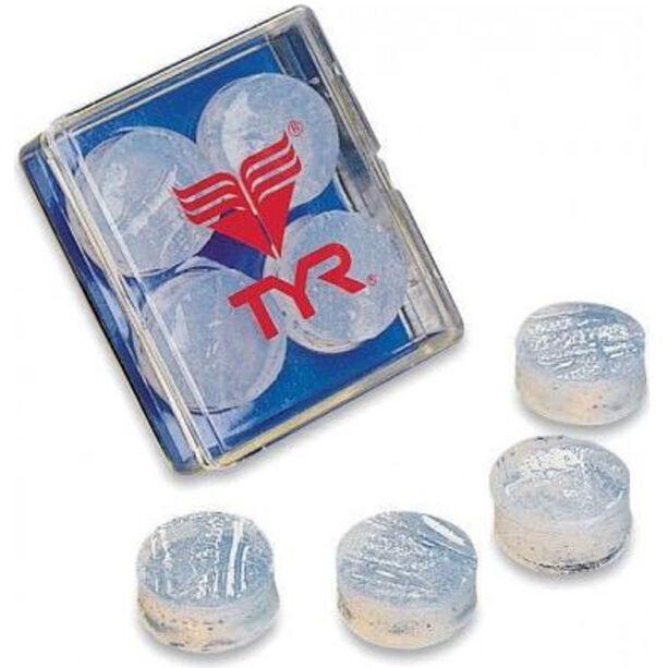 TYR Soft Silicone Earplugs clear