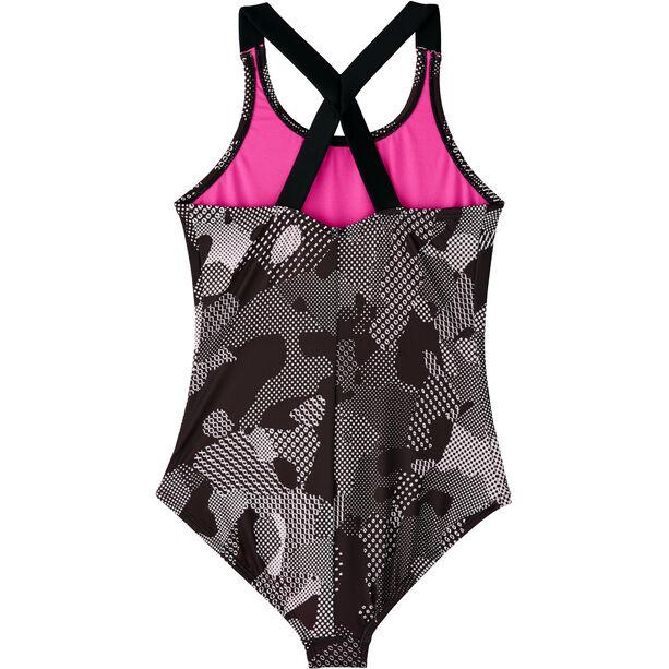 Nike Swim Optic Camo Crossback One Piece Badeanzug Mädchen black