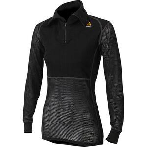 Aclima WoolNet Polo Shirt with Zip Damen jet black jet black