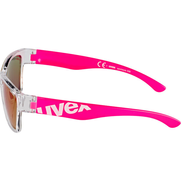 UVEX Sportstyle 508 Sportbrille Kinder clear pink/red
