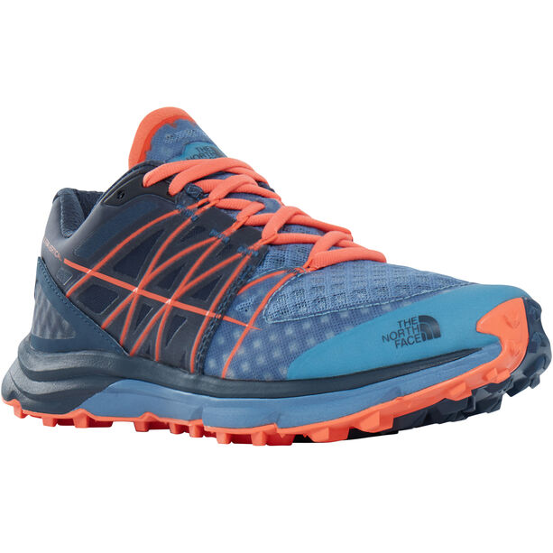The North Face Ultra Vertical Running Trail Shoes Damen provincial blue/nasturtium orange