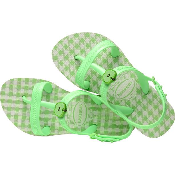 havaianas Joy Spring Sandals Mädchen white/hydro green fluor
