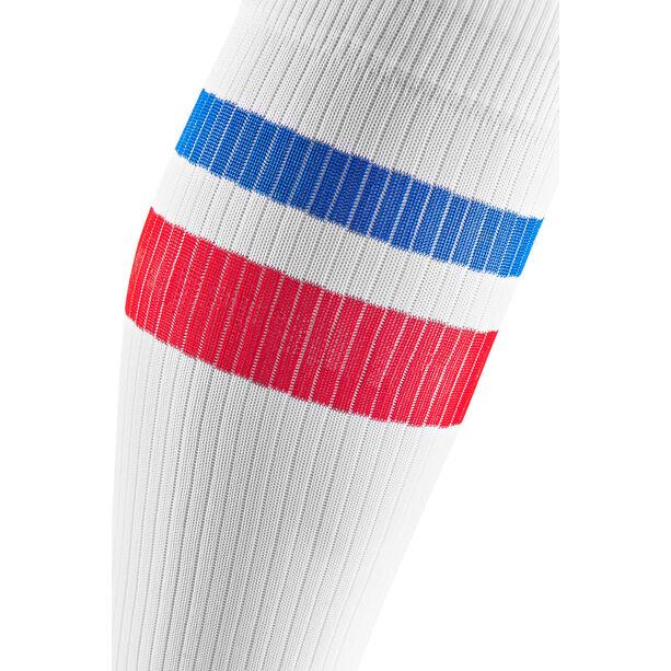 cep 80´s Kompressions Socken Herren white/red/blue