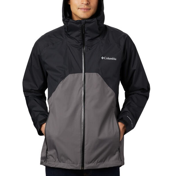 Columbia Rain Scape Jacke Herren black/city grey/black zips