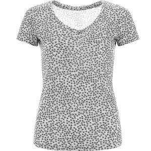 super.natural Base Print 140 V-Ausschnitt T-Shirt Damen ash melange/ash stars ash melange/ash stars