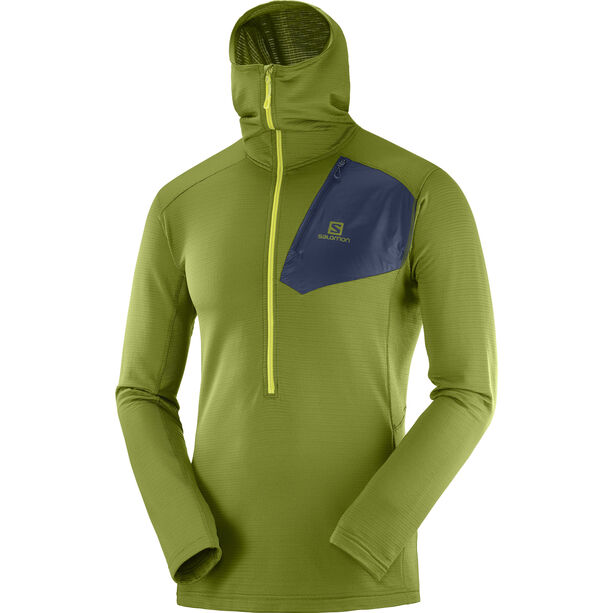 Salomon Grid HZ Midlayer Hoodie Herren avocado/night sky