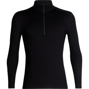 Icebreaker 260 Tech Langarm Half Zip Shirt Herren black black