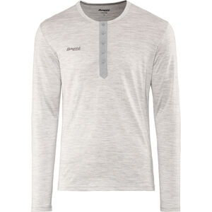 Bergans Henley Wool Shirt Herren grey melange grey melange