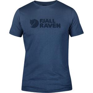 Fjällräven Logo T-Shirt Herren uncle blue uncle blue