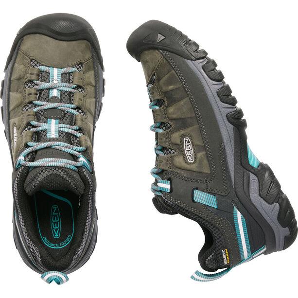 Keen Targhee III WP Schuhe Damen alcatraz/blue turquoise