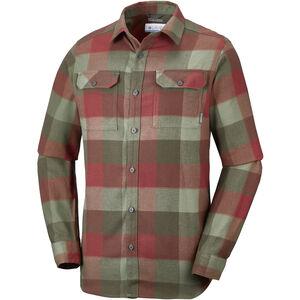 Columbia Flare Gun III Flannel LS Shirt Men mosstone large plaid mosstone large plaid