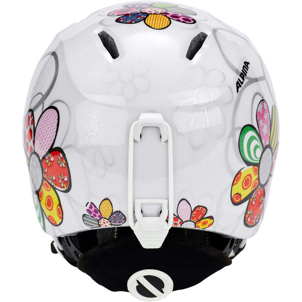 Alpina Carat LX Skihelm Kinder patchwork-flower